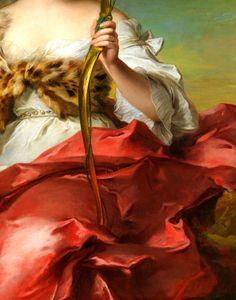 Madame de Maison-Rouge as Diana (detail), Jean Marc Nattier.