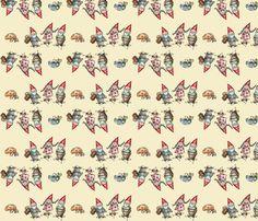 Gnomeland - A Family  fabric by catru on Spoonflower - custom fabric
