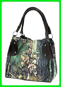 Camo Leaves Canvas Hobo Bucket Bag Purse (Black Trim) - Shoulder bags (*Amazon Partner-Link)