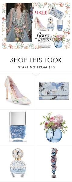 """""""#23"""" by verdandic ❤ liked on Polyvore featuring Ted Baker, GUESS, Marchesa, Nails Inc., LSA International, Marc Jacobs and Fendi"""