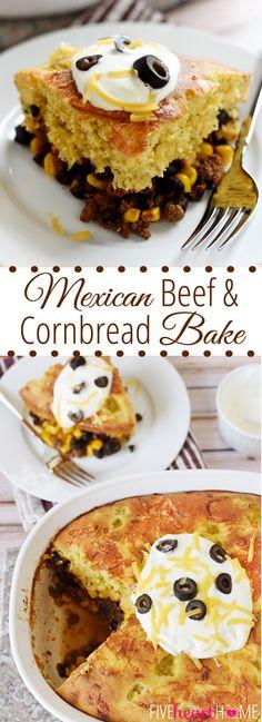 Mexican Beef & Cornbread Bake