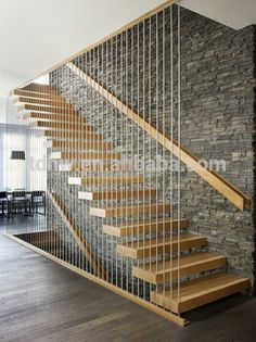 Modern Staircase Design Ideas - Search images of modern stairs as well as find design as well as format ideas to influence your own modern staircase remodel, including unique railings and also storage space . Modern Stair Railing, Stair Railing Design, Home Stairs Design, Staircase Railings, House Design, Modern Stairs Design, Staircase Ideas, Stair Decor, Railing Ideas