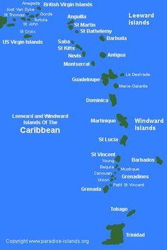 Leeward and Windword Islands of the Caribean  ASPEN CREEK TRAVEL - mailto:karen@aspencreektravel.com
