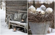 A touch of Luxe: Natural outdoor winter decor...