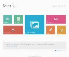 Metrika Flat Design WordPress Theme