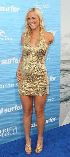 Bethany Hamilton At Event Of Soul Surfer. Love her! She was attacked by a shark while surfing.