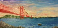 """""""Golden Gate"""" 24x12 inch. OIL,PAINTING. View from near Baker beach in San Fransisco. Published via ArtLoupe. #LANDSCAPE #TRADITIONAL"""