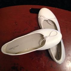 White Faded Glory ballet flats size 6 White, Faded Glory size 6 ballet flats. Excellent condition!!!Very limited wear and tear on the bottoms non-marking rubber bottoms the shoes are in excellent condition they just do not fit me as I do not wear a size 6.  Clearing out closet is an absolute must prior to spinal surgery on 2/25/2015. So my loss is your gain all reasonable offers made using the offer button will be considered!!! Faded Glory Shoes Flats & Loafers