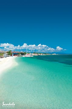 Check out those stunning blues of the Caribbean sea at Montego Bay in Jamaica