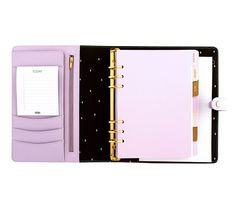 LEATHER PERSONAL PLANNER: LILAC
