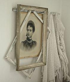 great idea...reusing old frames...framing old vintage photos