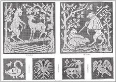 Antique Craft Pattern Book On CD - Filet crochet patterns - vintage crochet…