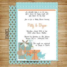 Baby Shower Invitation Photo Card 5x7 by CreativelyCutebyLisa, $6.75