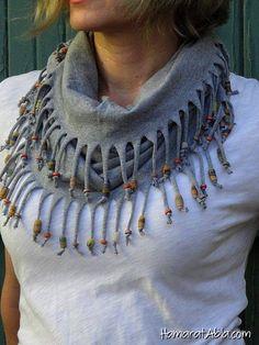 Tişörtten Yapılmış Şık Ve Kullanışlı Şallar!