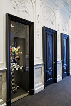 Andaz Amsterdam Prinsengracht Hotel by Marcel Wanders - design to incorporate elements of the city's heritage alongside imagery from historic books. - LOVE the doors!
