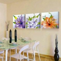 Elegant 3 Piece Flower Collection Set    **WORLDWIDE SHIPPING AVAILABLE**    Item Type: Print    Style: Classical    Material: Canvas     Subject: Flowers     Type: Canvas Printing     Shape: Square     Frame: With Frame     Frame Sizes: 12cm x 16cm, 16cm x 24cm,  20m x 30cm | Shop this product here: http://spreesy.com/belladonnahomedecor/128 | Shop all of our products at http://spreesy.com/belladonnahomedecor    | Pinterest selling powered by Spreesy.com