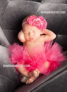 Azlyn Collection- Hot pink Newborn tutu, Infant Baby Girl Tutu WITH coordinating headband bow, newborn photo prop, baby girl gift, newborn by SnugAWoo on Etsy https://www.etsy.com/listing/176103757/azlyn-collection-hot-pink-newborn-tutu