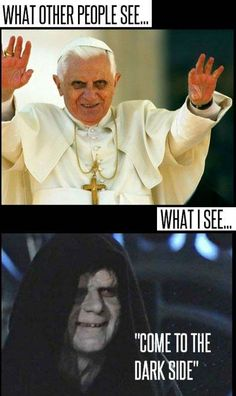 Funny pictures about Come to the dark side. Oh, and cool pics about Come to the dark side. Also, Come to the dark side photos. Jw Meme, Jw Jokes, Jw Humor, Geek Humor, Jehovah's Witnesses, Art Plastique, Laugh Out Loud, Dark Side, The Funny