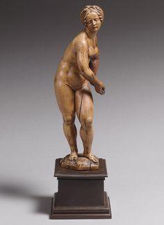 "Conrad Meit, ""Lucretia,"" Carved Wood, 1500-1515."