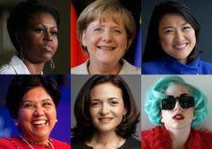 The World's 100 Most Powerful Women. Inspiring.