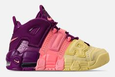 Nike's been dressing the Air More Uptempo in some raucous colourways of late, and it looks like the Swoosh are continuing the trend. Sneakers Fashion, Fashion Shoes, Sneakers Nike, Sailing Boots, Nike Air Uptempo, Kicks Shoes, Sneaker Games, Nike Flyknit, Me Too Shoes