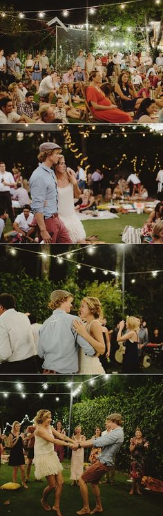 Picnic Style Wedding in Australia. I would never do it but it is cute...