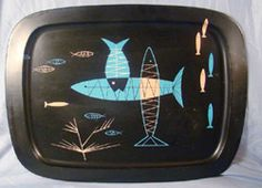 atomic mid century fred press style fish tray