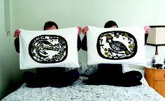 Brighten my Day Pillowcases X Madeleine Stamer, Third Drawer Down Lombok, Designer Pillow, Wood Blocks, Boy Room, Leather Case, Vintage Toys, Printing On Fabric, Bean Bag Chair, Madeleine