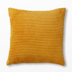 Prydnadskudde Softa, 45x45 cm, gul
