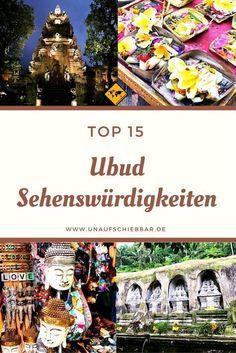 Ubud hat so viel zu bieten! Doch was sind eigentlich die besten und interessantesten Sehenswürdigkeiten vor Ort? Erfahre mehr, in dem du aufs Bild klickst. #Ubud #Bali #Sehenswürdigkeiten