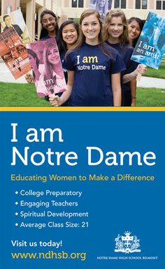 Notre Dame High School - Marketing Collateral by Thien Nguyen, via Behance