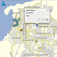 Santa Marta Colombia Driving Directions Colombia GPS Map Garmin