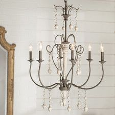 Big Piney 6 Light Candle Chandelier