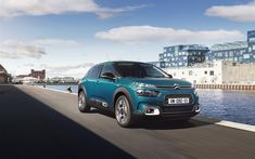 Download wallpapers Citroen C4 Cactus, 2018, blue crossover, new cars, new C4 Cactus, French cars, Citroen