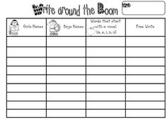 Read/Write around the Room - Great center activity