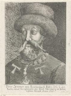Johann Friedrich Leonard | Portret van Peter Stromer, Johann Friedrich Leonard, 1643 - 1680 | Portret van Peter Stromer, raadsheer en koopman te Neurenberg.
