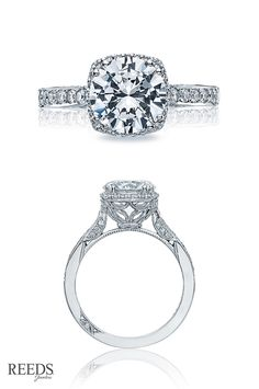 The most requested #Tacori engagement ring from the Dantela Collection. REEDS.com
