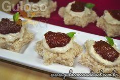 Canapés de Tomate Seco e Tofu » Acompanhamentos, Receitas Saudáveis » Guloso e Saudável