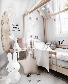 kids room miffy feather wall art #pompom #miffy #kidsroom