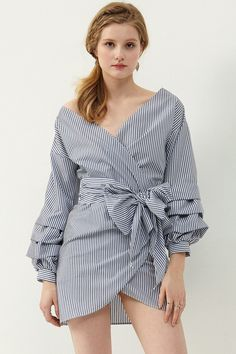 Jennet Wrap Dress . Discover the latest fashion trends online at storets.com  #wrapdress #shirtdress #only