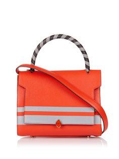 Bathurst reflective-stripe leather tote | Anya Hindmarch | MATCHESFASHION.COM UK