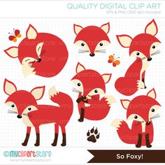 Woodland Animals / Fox Clip Art / Digital von MyClipArtStore