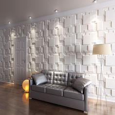 living room wallpaper ideas - Wall Panels for Interior Wall Decoration Brick Design Pack of 6 Tiles 32 Sq Ft (Plant Fiber) Wall Sconces Living Room You can find more details by visiting the image link. Interior Walls, Home Interior, Interior Decorating, Interior Design, Wall Cladding Interior, Classic Interior, Decorating Ideas, 3d Wall Tiles, Decorative Wall Tiles