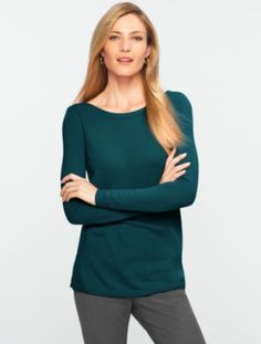 Talbots - Cashmere Sweater. Beautiful neckline. Not quite dramatic though, not cool enough.