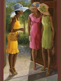 I Submit Fred Mathews African American Art Print 20x16