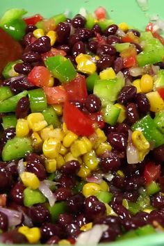 Need Black Bean Recipes? This black bean salad with corn and bell peppers Need Black Bean Recipes? This black bean salad with corn and bell peppers Bell Pepper Salad, Black Bean Salad Recipe, Black Bean Recipes, Black Bean Salads, Four Bean Salad, Mexican Bean Salad, Black Bean Corn Salad, Black Eyed Pea Salad, Vegetarian Recipes