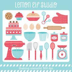 Baking Utensils-Digital Clipart (LES.CL11) – Lemon Elf Studio Scrapbook Stickers, Scrapbook Paper Crafts, Scrapbooking, Pictures Of Love Couple, Decoupage, Elf Studio, Baking Utensils, Bohemian Kitchen, Recipe Scrapbook