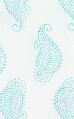 taj paisley in aqua from @rikshawdesign