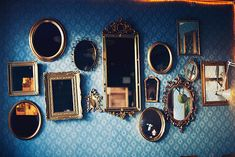 Mirror collage....over a vanity table?