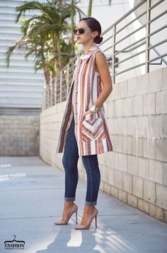 Модные удлиненные жилеты. 5